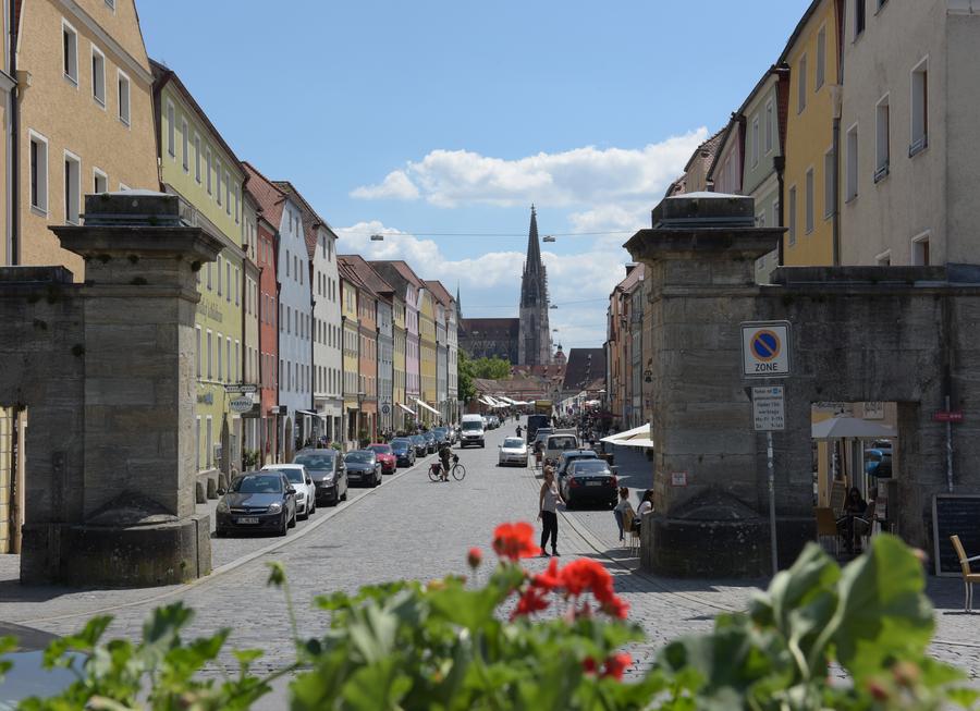 Regensburg Parken Altstadt